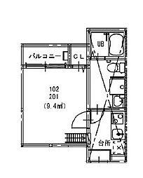 STAGE新瑞橋[1階]の間取り