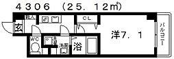 シェモア藤井寺[602号室号室]の間取り