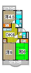 クレスト松原[1階]の間取り