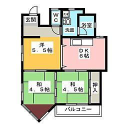 フルーヴェ1番館[2階]の間取り
