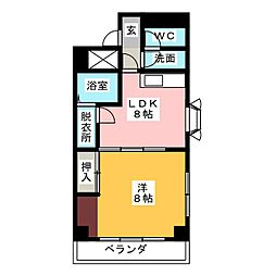 フォンテ名昭[4階]の間取り