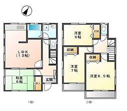 [一戸建] 東京都日野市多摩平5丁目 の賃貸【/】の間取り