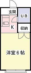 アメニティ高幡[102号室]の間取り
