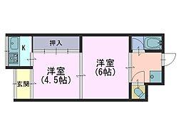 村井平屋 東棟[1階]の間取り