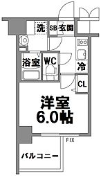 エスリード新大阪グランファースト[711号室]の間取り