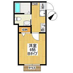 東京都世田谷区成城2丁目の賃貸アパートの間取り