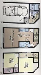 [一戸建] 神奈川県横浜市南区西中町3丁目 の賃貸【/】の間取り