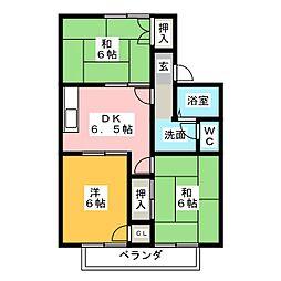 サニーコート天道A棟[2階]の間取り