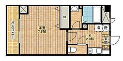 神奈川県川崎市高津区新作3丁目の賃貸マンションの間取り