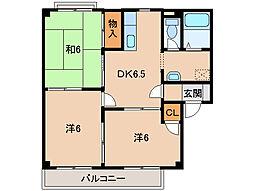 和歌山県和歌山市栄谷の賃貸マンションの間取り
