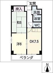 愛知県名古屋市港区正保町2丁目の賃貸マンションの間取り