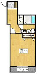 皆川タウンハウス パート1[105号室]の間取り