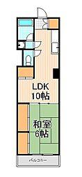 東京都墨田区東向島2丁目の賃貸マンションの間取り