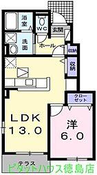 ルーベル論田A[105号室]の間取り