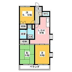 メゾン有東坂[2階]の間取り