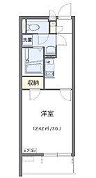 神奈川県相模原市中央区中央2丁目の賃貸アパートの間取り