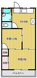 コーポノリミツ[3階]の間取り
