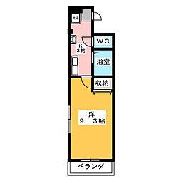 レジデンス赤坂[1階]の間取り