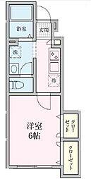 Sakura・M[102号室]の間取り