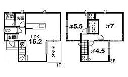 [一戸建] 徳島県徳島市津田町4丁目 の賃貸【/】の間取り