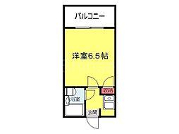 大阪府堺市堺区陵西通の賃貸アパートの間取り