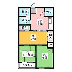 リーベマンション[3階]の間取り