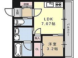 プルミエ京口[2階]の間取り
