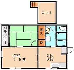松本第2コーポ[2階]の間取り