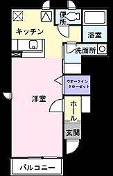 プロスパー六番館[1階]の間取り