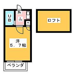 リバーウェイ[2階]の間取り