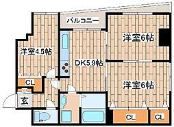 阪急神戸本線 王子公園駅 徒歩3分の賃貸マンション 1階3DKの間取り