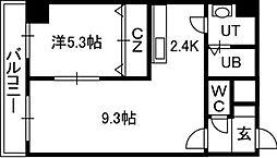 エステラ南3条館A[10階]の間取り