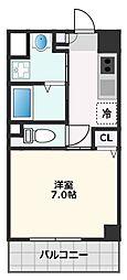カーサ・ロイヤル吹田1番館 5階1Kの間取り