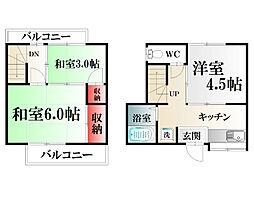 [テラスハウス] 神奈川県横須賀市佐野町2丁目 の賃貸【/】の間取り