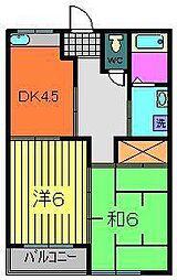 第2コーポ黒砂台[1階]の間取り