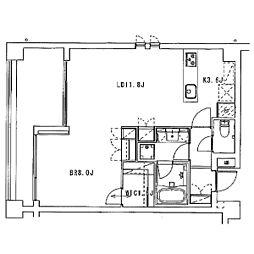 ディルッソ西間門[2階]の間取り