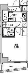 都営大江戸線 両国駅 徒歩5分の賃貸マンション 2階1Kの間取り