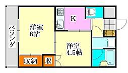 メゾン秀榮前原[1階]の間取り