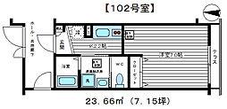 エクセルステージ東蒲田[102号室号室]の間取り
