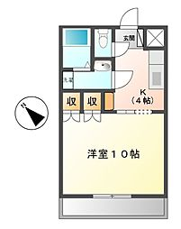 三重県松阪市垣鼻町の賃貸マンションの間取り