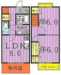 [テラスハウス] 千葉県野田市中根 の賃貸【/】の間取り