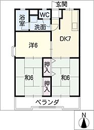 阿波屋マンション[1階]の間取り