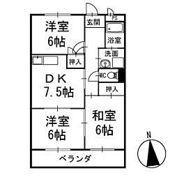 ネヴァランド上里 1階[101号室]の間取り