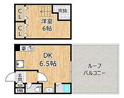 アニマート姫島[7階]の間取り