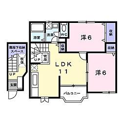 サンパティークI[2階]の間取り