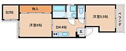 パークマンション竜南[201号室]の間取り