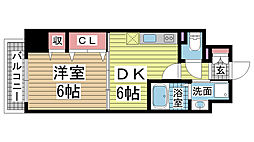 兵庫県神戸市中央区浜辺通6丁目の賃貸マンションの間取り