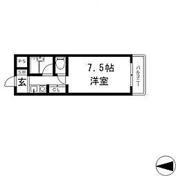 エクセルシオール長田[1113号室号室]の間取り