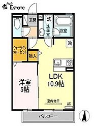 ハーベスト横井(ハーベストヨコイ)[2階]の間取り