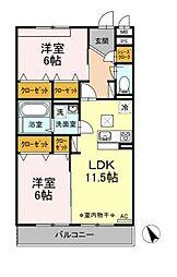 D-room大庭[2階]の間取り